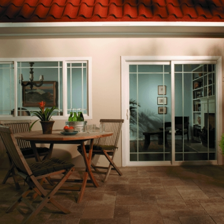 encompass by pella sliding window exterior view